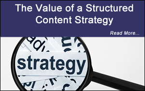 value of a structure content strategy